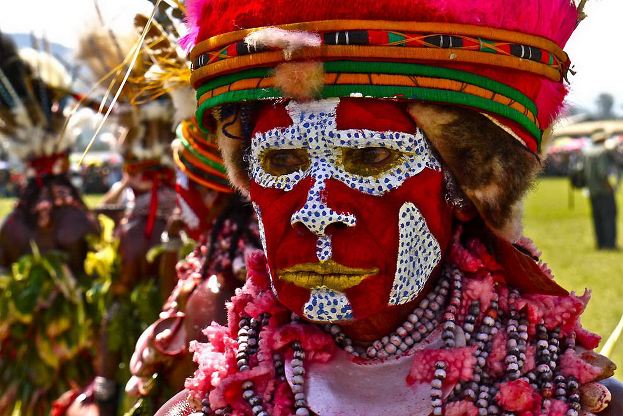 Red Body Paint Tribal